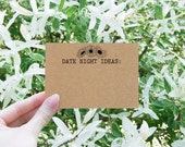 Date Night Ideas - Date Night Cards - Date Night Jar - Bridal Shower Games - Bridal Shower Ideas - Daisy Bridal Shower Theme - Floral Cards