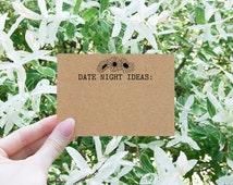 Date Night Ideas - Date Night Cards - Date Night Jar - Bridal Shower Games - Bridal Shower Ideas - Boho Bridal Shower Theme - Floral Cards