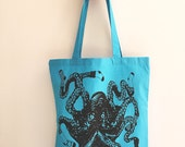 SOCKTOPUS Eco-Friendly Market Tote Bag - Hand Screen printed (Ships FREE!)