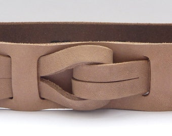 "Muse ""Qallu"" Belt, Mens Leather Belt 1.5 width / Nickle free / Free shipping"