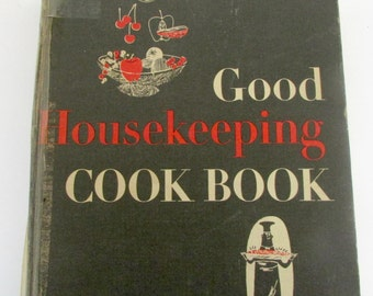 Vintage 1955 Good Housekeeping book recipes Cook Book Recipe Book 1950s Bridal Shower