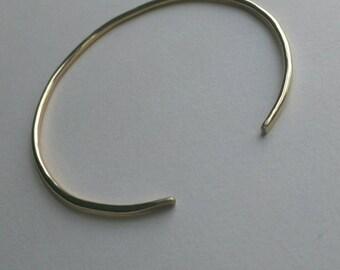 Gold filled cuff bracelet, adjustable gold bracelet minimal cuff