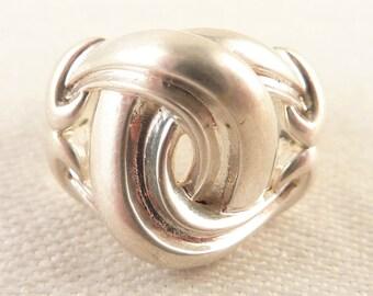 Size 7 Vintage Sterling Ann King Bulky Knot Designer Ring