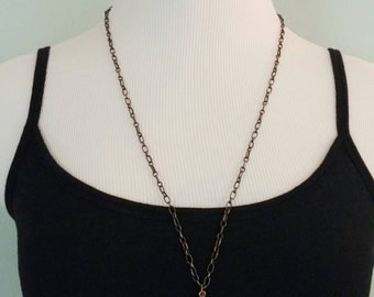 Vintaj Jewelry, Renaissance Jewelry, Crystal Jewelry, Bohemian Teardrop Pendant, Vintage Look, Brass Jewelry, Pendant Necklace