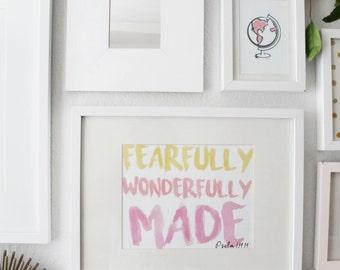 Pink Globe Art Printable