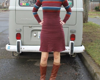 Vintage 70's Knit Sweater Dress