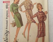 "Simplicity 6079, Vintage 1965 dress pattern, Size 14, Bust 34"""