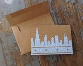 Chicago Skyline recycled envelope card