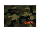 Personalized Placemat - CAMO Collection