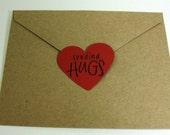 En forme de coeur nous avons atteint - bonne Saint-Valentin - envoi calins - en forme de coeur autocollants - lot de 8
