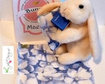 """Matchbox Bunny 4"""" High -Maeve  Design No. 1250 - Finger Puppet"""