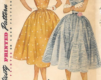 "Simplicity 4675  1950s Tweens ""Simple to Make"" Party Dress Vintage Sewing Pattern Size 10 Bust 28"