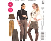 Shorts Pattern Pants Pattern McCalls 6403 Plus Size 18 to 24 Straight or Wide Leg Trousers Short Shorts Pockets Womens Sewing Pattern UNCUT