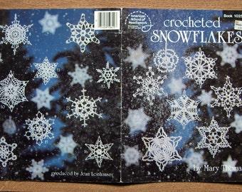 vintage 80s crochet pattern CROCHETED SNOWFLAKES