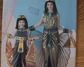 2010 simplicity pattern 2329 childs girls costume Egyptian princess queen sz 3,4,5,6 uncut