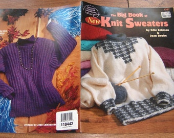 Items similar to Vintage Sweater Patterns, 25 Sweaters to Knit in 1967 Columb...