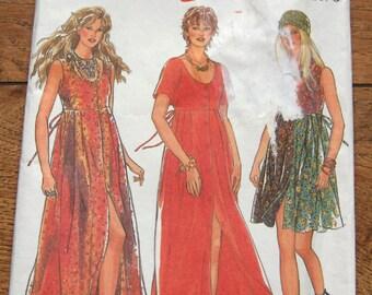 vintage 1994 new look pattern 6173 misses dress front button closure sz 6-16 uncut mini maxi