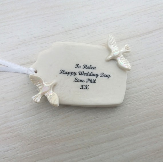 Pottery Wedding Anniversary Gifts: Personalised Wedding Gift Tag