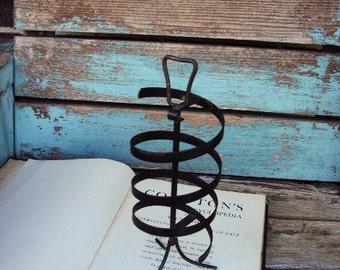 Vintage Mid Century Jewelry Holder Stand Earrings Swivel Display Metal Spiral Metal Spring style Hollywood Regency
