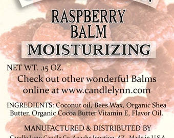RASPBERRY Lip Balm by Candle Lynn - Made with Organic Shea and Cocoa Butters