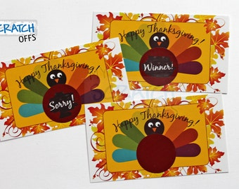 Thanksgiving Scratch Off Game Cards Turkey Day Scratch Off Cards