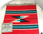 Vintage Chimayo Weaving Southwestern Woven Textile Wall Hanging MWT