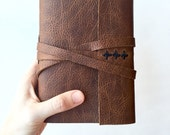 Brown Leather Journal -Elm- Made to Order Leather Sketchbook Personalized Leatherbound Travel Notebook Gifts Under 50 Gifts for Him for Her