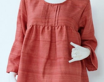 CLEARANCE SALE--M022A--Nice and simple (Blouse)