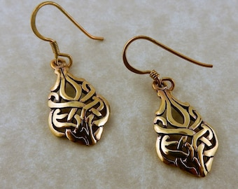 Vintage Celtic Knot Bronze earrings Irish