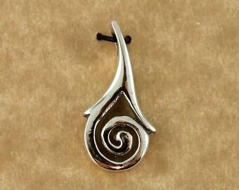 Sterling silver Celtic Spiral pendant