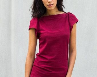 Fae Top, Cotton Jersey, Flutter Sleeve- handmade to order