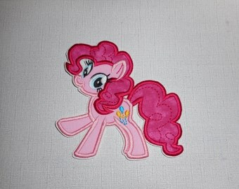 Free Shipping   Ready to Ship Pink  Pony  Fabric Iron on applique