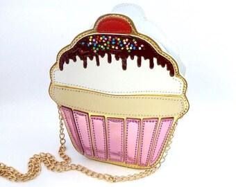 Cupcake Clutch, Cupcake Bag , Tea Party Clutch , Tea Party Bag , Alice in wonderland Bag,Cake Bag, Cake Clutch, Cupcake Party, Sweet Clutch