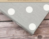 Baby Book (Pregnancy - 5 years) - Grey/White Dots  (136 designed journaling pages & personalization with every album)