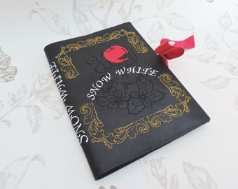 "Faux leather  notebook Journal ""Snow white"""