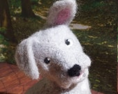 Puppy Needle Felted Gray with white puppy