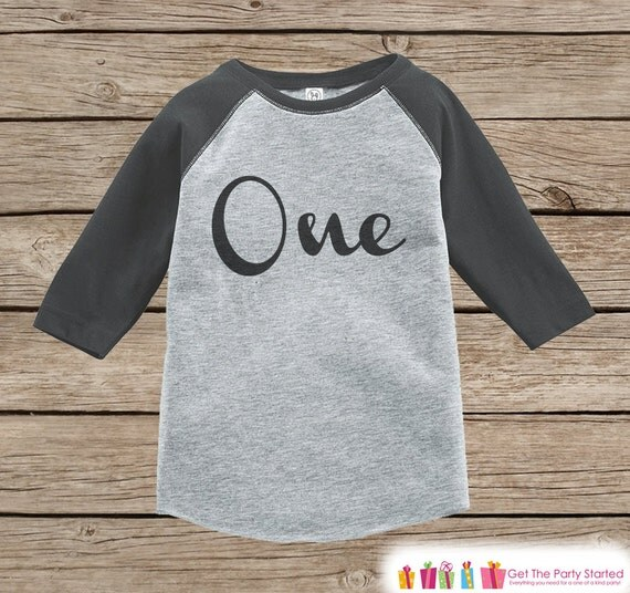 One First Birthday Raglan Shirt Baby Boy Birthday Onepiece