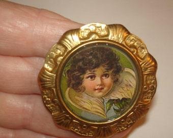 Angel Child Vintage Jewelry  Brooch KL Design
