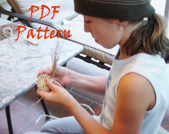 PDF How-To Pattern Instruction, Fiber Arts, Pine Needle Basket Pattern, Instant Download, Raffia Style, DIY, Make a Basket, Learn to Coil