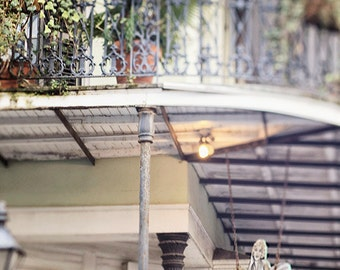 """New Orleans French Quarter Art Photography """"Head Quarters"""" Sign, Architecture Photograph. Affordable Wall Art  Print. 8x10, 11x14, 16x20+"""