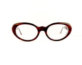 Rodenstock Oval Shape Eyeglasses Frames Women's Vintage 1950's/1960's Tortoiseshell Frames Sabime Model Germany #M319 DIVIVE