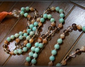 Amazonite Mala, Sunstone Mala, Smoky Quartz Mala, Quartz Mala, Rutilated Quartz Mala, Prayer Beads, Japa Mala