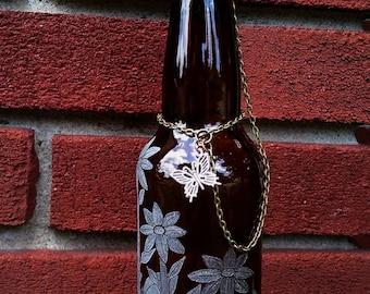 Daisy Covered Beer Bottle