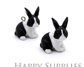 1pcs (CP12) Resin Rabbit Pendants / Charms
