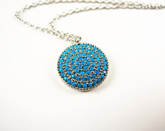 Evil eye necklace -  evil eye jewelry - turkish jewelry - turquoise necklace - bohemian jewelry- girlfriend gift - delicate - tiny - mother