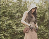 RESERVED - Top - Steampunk - Burning Man - Tunic - Playa Wear - Hooded Top - Bohemian Gypsy - Size Small