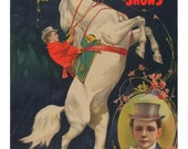 antique victorian ringling bros equine circus show illustration digital download