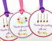 Art Party Favor Tags, Paint Party Favor Tags, Paint Favor Tags, Paint Tags, Paint Party Decorations, Art Party Decorations - SET OF 12