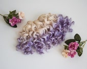 Weft doll hair mohair goat hair blonde and lavender for waldorf, Blythe natural Wool Doll Hair, Blythe Doll Reroots, tress, la Fiaba russa