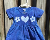 Blue Baby Dress (6 months), Baby Girl Dress, Baby Girls Dress, Baby Girl Gift, Baby Shower Gift, Blue Baby Girl Gift